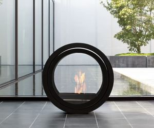 Flue-less ethanol fireplace-CONMOTO-ROLL FIRE Wall-Mounting