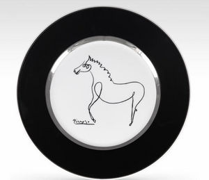 MARC DE LADOUCETTE PARIS - picasso le cheval 1920 - Decorative Platter