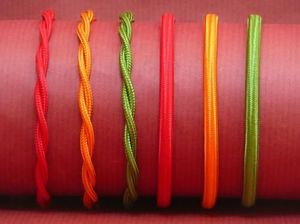 Produits Dugay - cable électrique tissu couleur - Electrical Cable