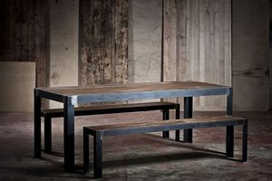 ADRIAN DUCERF - knock - Rectangular Dining Table