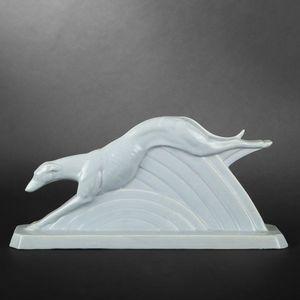 Expertissim - lévrier en faïence - Animal Sculpture