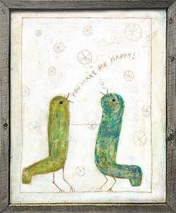 Sugarboo Designs - art print - happy birds - Decorative Painting