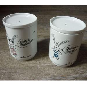 JUDITH LEVIANT - tisanière merci ... lapinette personnalisable - Tea Cup