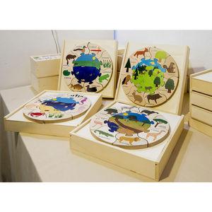 ANIM'EN BOIS - puzzle milieu naturel forêt (2-5 ans) - Wooden Toy