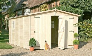 Chalet & Jardin - garage 14,85m² en bois panneaux 19mm - Wood Garden Shed