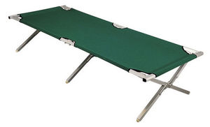 ALPINA GARDEN - lit de camp en aluminium et nylon vert 190x66x42cm - Camping Bed