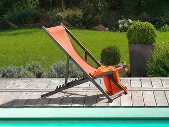 PROLOISIRS - chilienne terracota en aluminium et textilène 94x6 - Deck Chair