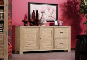 INWOOD - buffet 2 portes 2 tiroirs nevada en acacia - Low Chest