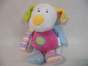WDK Groupe Partner - doudou chien en tissu avec grelots 20cm - Early Years Toy