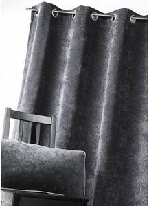 HOMEMAISON.COM - rideau d'ameublement en velours uni - Eyelet Curtain