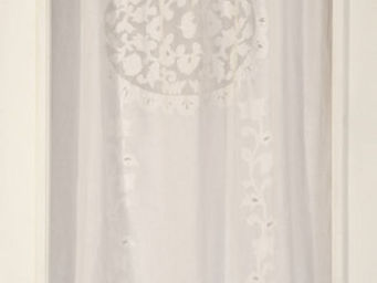Coquecigrues - rideau brod� v�lasquez blanc - Ready To Hang Curtain