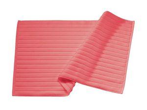 BLANC CERISE - tapis de bain corail - coton peigné 1000 g/m² - Bathmat