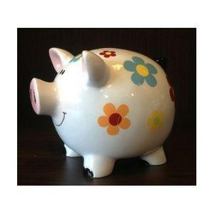 FAYE - tirelire cochon blanche - Piggybank