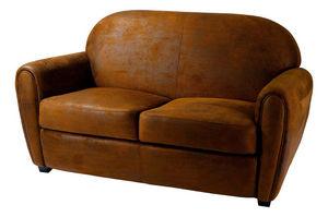 INWOOD - canapé 2 places maya marron en microfibre 150x93x8 - 2 Seater Sofa