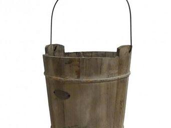 L'HERITIER DU TEMPS - seau de puits en bois - 27 cm - Bucket