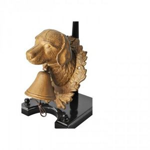Demeure et Jardin - cloche chien en fonte - Animal Sculpture