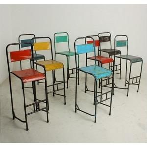 Mathi Design - tabouret en metal vintage - Bar Chair
