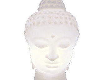 Slide - buddha - lampe blanc | lampe à poser slide designé - Table Lamp