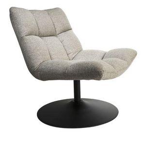 WHITE LABEL - fauteuil pivotant bar lounge de dutchbone gris cla - Armchair