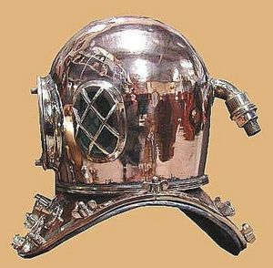 Normandy Antiquites De Marine -  - Antique Diving Helmet