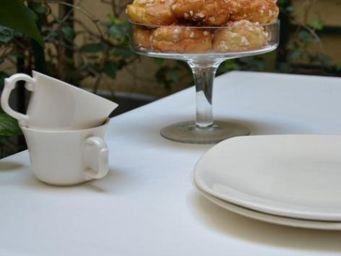 FLEUR DE SOLEIL - uni blanc - Coated Tablecloth