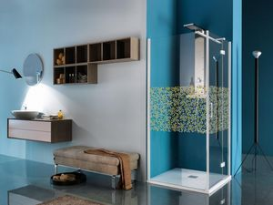 Samo - polaris mosaico - Shower Enclosure