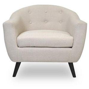 Demeure et Jardin - fauteuil beige design style scandinave bjort - Armchair