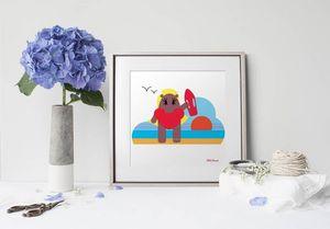 la Magie dans l'Image - print art héros alerte - Decorative Painting