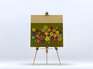 la Magie dans l'Image - toile bouquet vert - Digital Wall Coverings