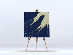 la Magie dans l'Image - toile de loin bleu - Digital Wall Coverings