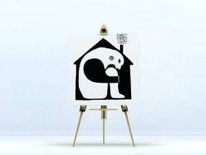 la Magie dans l'Image - toile ogre maison noir & blanc - Digital Wall Coverings