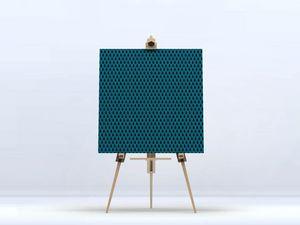la Magie dans l'Image - toile uni chouette bleu - Digital Wall Coverings