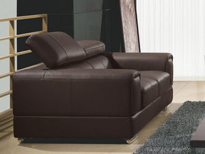 WHITE LABEL - canapé cuir 2 places lima - 2 Seater Sofa