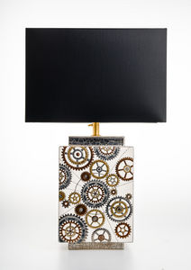 Emaux De Longwy - engrenages - Table Lamp