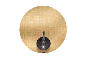 CHILEWICH - basketweave gilded round - Placemat