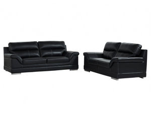WHITE LABEL - canapé monika - 3 Seater Sofa