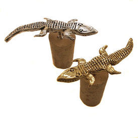 Siecle Paris - bouchon de bouteille crocodile - Decorative Bottle Stopper