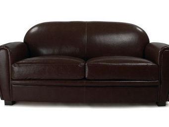 Miliboo - canapé 3 places club marron - cuir - 3 Seater Sofa