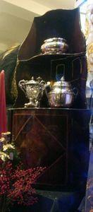 Grand Papa Antiquites - encoignure murale - Corner Cupboard