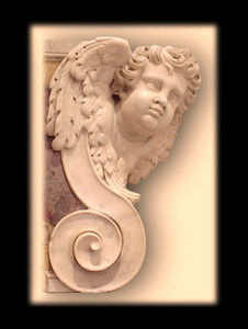 Abj Cheminees Anciennes - paire d'angelots - Cherub