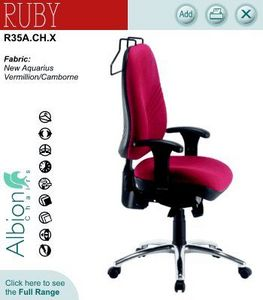 Albion Chairs - ruby - Office Armchair