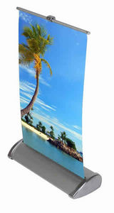 Marler Haley Expo Systems - mh miniature banner stand description - Vertical Hanging Banner