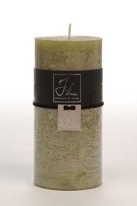 BELDEKO - bougie cylindre vert l - Round Candle