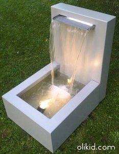 Olikid - cascade lame d'eau - Wall Fountain