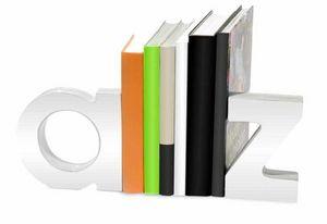 Balvi - serre-livres a et z en céramique blanche - Book End