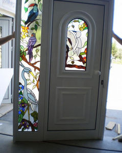 VITRAL D ARTE - vitrail - Glazed Entrance Door