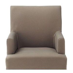 Maisons du monde - housse taupe fauteuil lounge - Armchair Cover