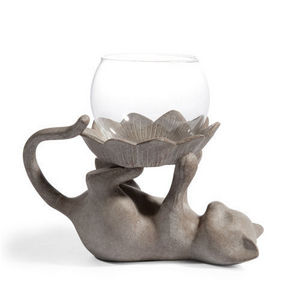 Maisons du monde - lumignon chat joueur gris - Tealight Candle