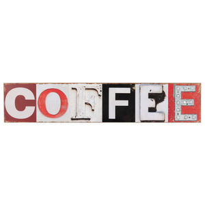 Maisons du monde - plaque bois coffee - Decorative Number