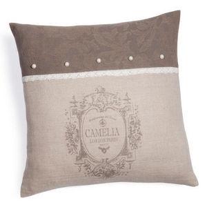 MAISONS DU MONDE - housse de coussin camélia perlée - Cushion Cover